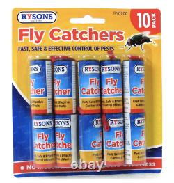 10 Fly Insect Catcher Killer Trap Strip Pest Bug Wasp Ants Window Office Home