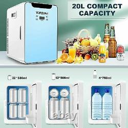 20L Portable Mini Fridge Table Top Electric Small Cooler Car Ice Box Office Home