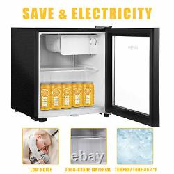 43L Portable Mini Fridge Table Top Electric Small Cooler Car Ice Box Office Home