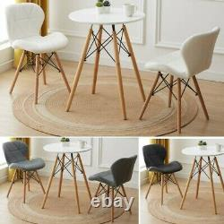 60cm Small Round Dining Table and 2 Chairs Lounge Bar Office Cafe Home Furniture
