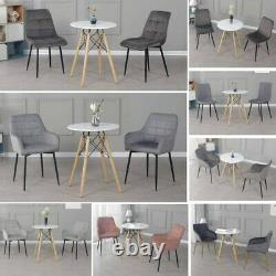 60cm Small Round Dining Table and 2 Chairs Optional Home Lounge Office Bistro