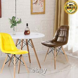 80cm Round Table And Dining Chairs 2 / 4 Set Multi Colour Wood Leg Room Home UK
