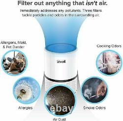 Air Purifier, H13 HEPA Filter, Home or Office, 3 Stage Filtration, Reduce 99.7%