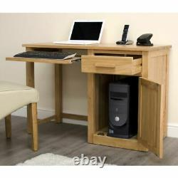 Arden Solid Oak Small Home Office Desk And Two-Drawer Filing Cabinet Package