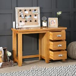 Cheshire Oak 3 Drawer Pedestal Dressing Table Small Desk Home Office AD12