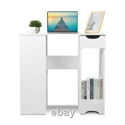 Computer Desk PC Table Workstation Home Office Study Furniture with Shelves