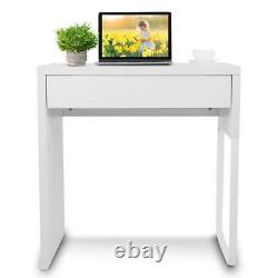 Computer Desk White Writing Table Sturdy 28.7 X 19.6 X 29.5in for Home Office
