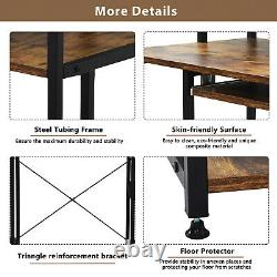 Computer Desk with Bookshelf for Small Spaces Gaming Office Home Table with Shelf