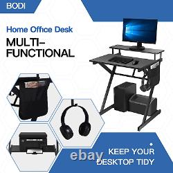 Computer Office Desk for Home Working, Gaming PC Table Workstations for Small 70
