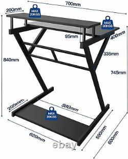 Computer Office Desk for Home Working, Gaming PC Table Workstations for Small Sp