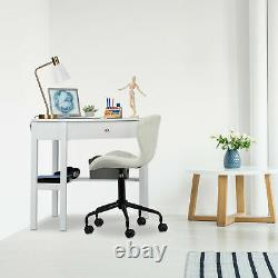 Corner Work Desk, Home Office, Pc, Study Table, Workstation, Small, White