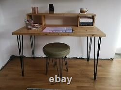 Desk computer office home laptop small medium large custom table wood hairpin