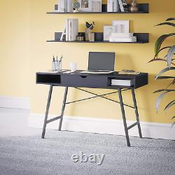 Dudley Modern Home Office Desk Computer Study Table with one Drawer Wooden