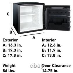 Fireproof Waterproof Safe Dial Combination Home Office Security Box 1.23 Cu New