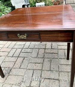 George III Antique Desk Small Table Fold Over Top Ideal Home Office