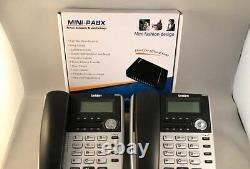 Home Small Office PBX 308 Telephone System with 2 x Uniden extension phones-NEW