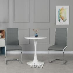 Modern 60cm Small Round Dining Table and 2 Chairs Home Lounge Office Bistro New