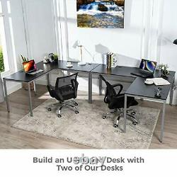 Modern L-Shaped Desk Workstation Table for Small Space Home Office, L Shaped