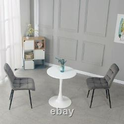 Modern Small Round Dining Coffee Table and 2 Chairs Set Home Office Furniture