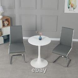 New 60cm Small Round Dining Table and 2 Chairs Home Lounge Office Bistro Cafes