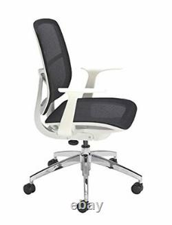 Office Hippo Mesh Office Chair with Arms, Small Office Chair for Home, White Off