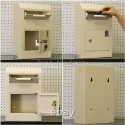 Office Safe with Drop Box Depository Cash Lock Security Home Car Keys Jewelry