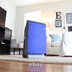 Quiet HEPA Air Purifier 4-Step Purification System 3-Speed Home Office Cleaner