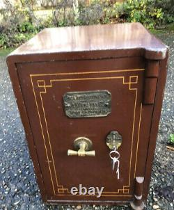 Rare Antique Vintage Iron Home Office Safe Fire Resistant 2 Man Delivery