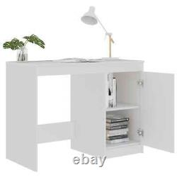 Small Computer Desk with Integrated Cabinet Study PC Table Home Office Workstation