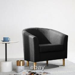 Small Linen Fabric Chairs 1 Seater Single Sofa Armchair Lounge Office Home Seat