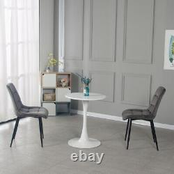 Small Round Dining Coffee Table and 2 Chairs Set Home Office Furniture
