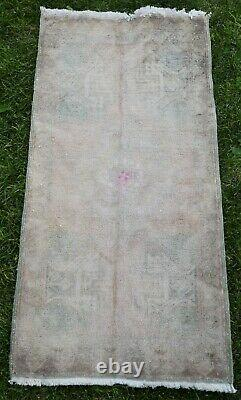 Small Rug, Turkish Small Rug, Home Office Oriental Rug, Seat Cover, 1'9x3'5