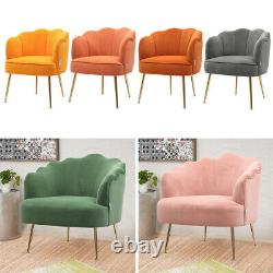 Small Scallop Shell Chair Leisure Single Sofa Home Office Coffee Seat Armchair