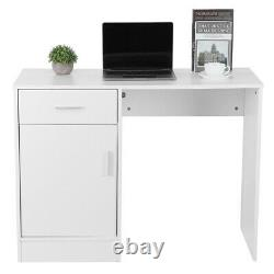 Small White Computer Desk Study PC Table Laptop Home Office Workstation Drawer