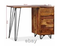 Small Writing Desk Home Office Pc Computer Table Rustic Antique Style Furniture