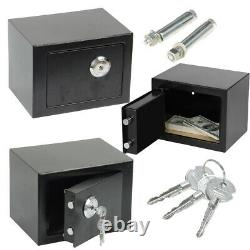 Solid Steel Safe Security Home Office Money Cash Safety Box With Key