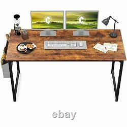 Study Computer Desk 55 Home Office Writing Small Desk, Modern Simple
