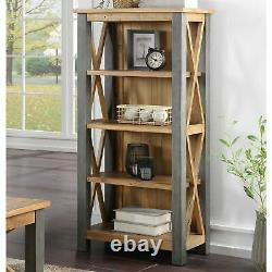 Urban Elegance Reclaimed Home Office Furniture Small Bookcase Shelving