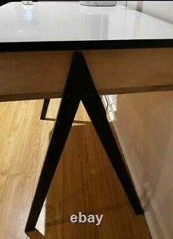 Vintage Antique 50s 60s Mid-Century Modern Small Desk Home Office Formica Top
