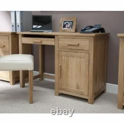 Boston Solid Oak Home Office Furniture Small Desk And Filing Cabinet Package