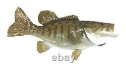 Mounted Small Mouth Bass Fish Reproduction Animal Wall Statue Home Office Gift